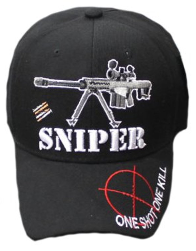 MidMil Sniper Scope 50 Cal Barrett Rifle Hat Black