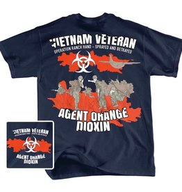 MidMil Vietnam Veteran Agent Orange T-Shirt Operation Ranch Hand Black