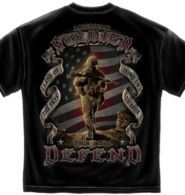 "MidMil American Soldier ""This We'll Defend"" T-Shirt Black"