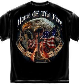Home of the Free . . . Brave T-Shirt Black