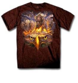 MidMil Eagle and Buffalo T-shirt Black