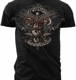 MidMil Navy Corpsman T-Shirt with Caduceus Black