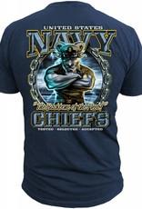 "MidMil Navy Chiefs ""The Backbone of the Fleet"" T-shirt Dark Blue"