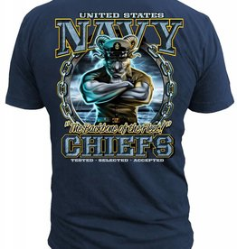 "MidMil Navy Chiefs ""The Backbone of the Fleet"" T-shirt Dark Blue"