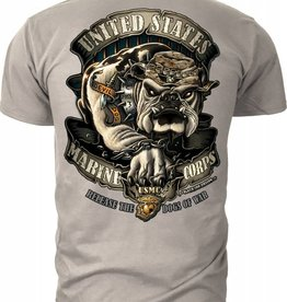 "MidMil Marine Corps T-Shirts ""Release the Dogs of War"" Khaki"