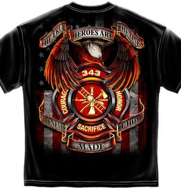 MidMil Firefighters are True Heroes T-Shirt Black