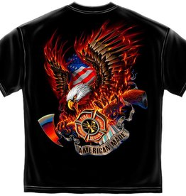 MidMil American Made Firefighters T-Shirt Black