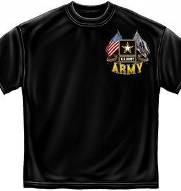 MidMil Army Flags T-Shirt Black