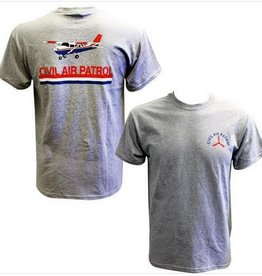MidMil Civil Air Patrol T-Shirt with Cessna Grey Heeather