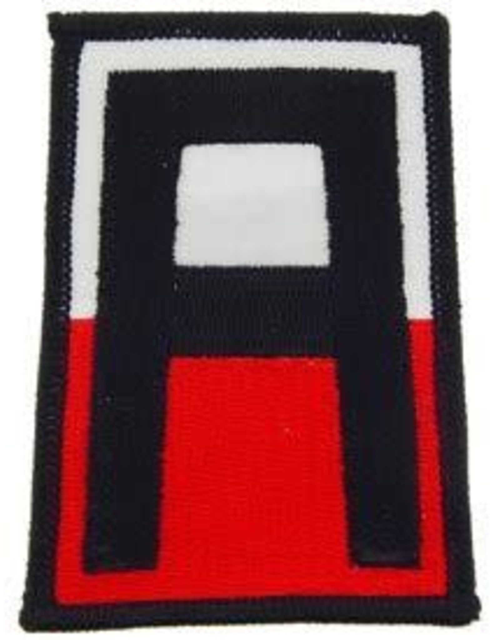 "MidMil Embroidered 1st Army Patch 3.5"" tall and 2.5"" wide"