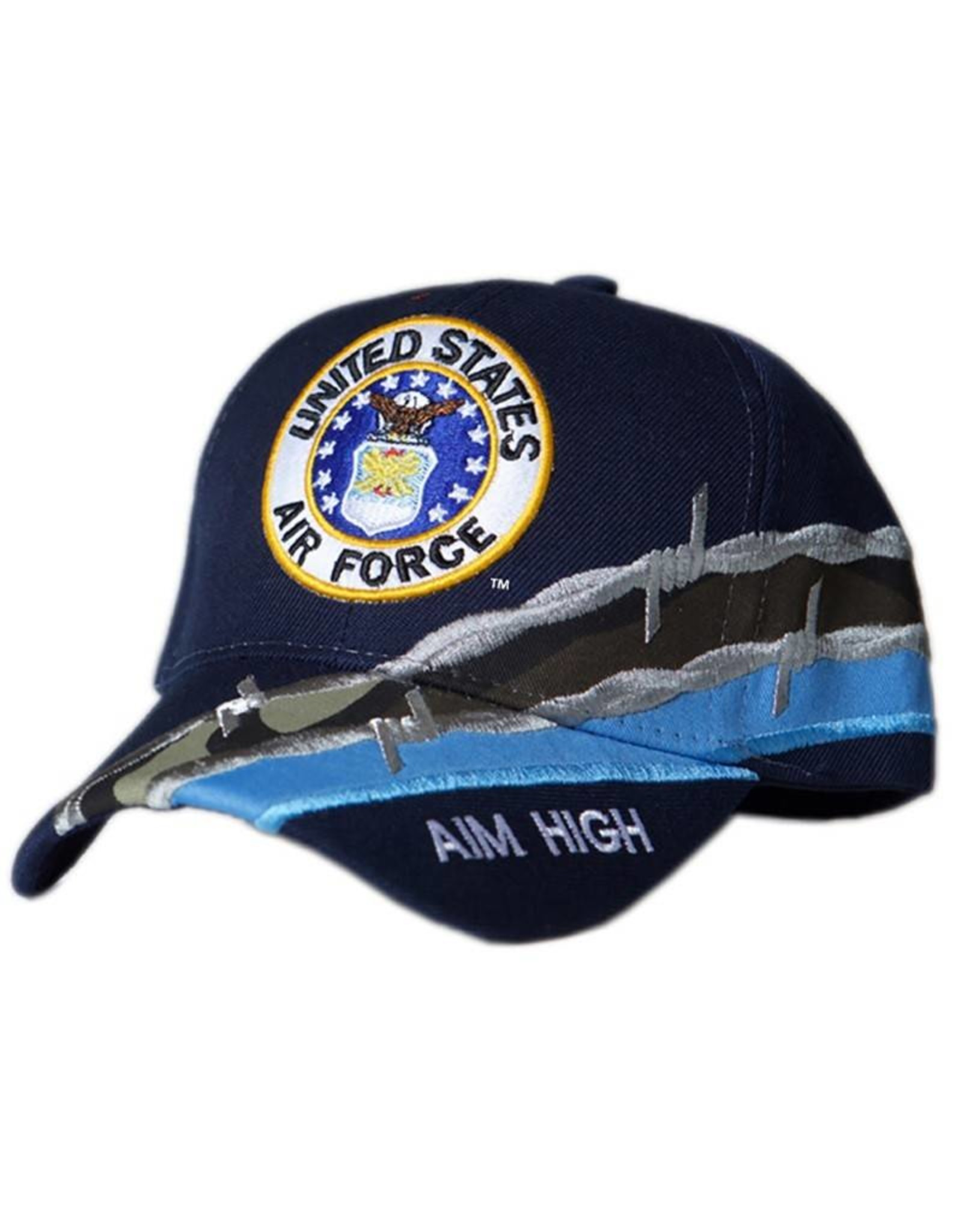 MidMil Air Force Hat with Seal and Barbed Wire Dark Blue