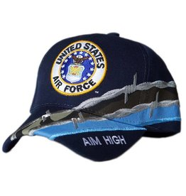 Air Force Hat with Seal and Barbed Wire Dark Blue