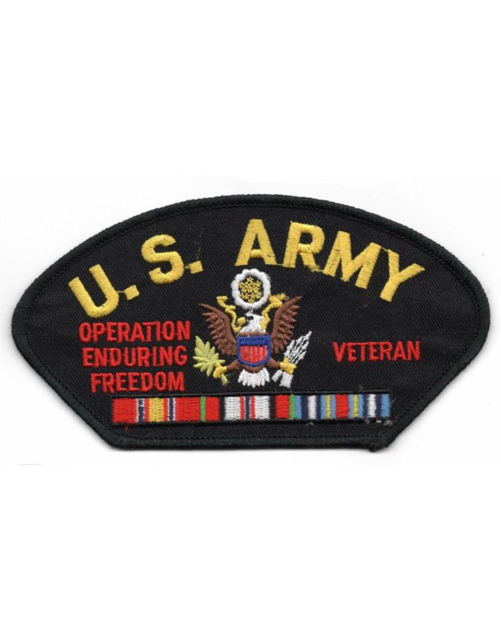 MidMil Embroidered U.S. Army Operation Enduring Freedom Veteran Patch with Ribbons and Army Emblem