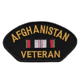 Embroidered Afghanistan Veteran Patch with Service Ribbon