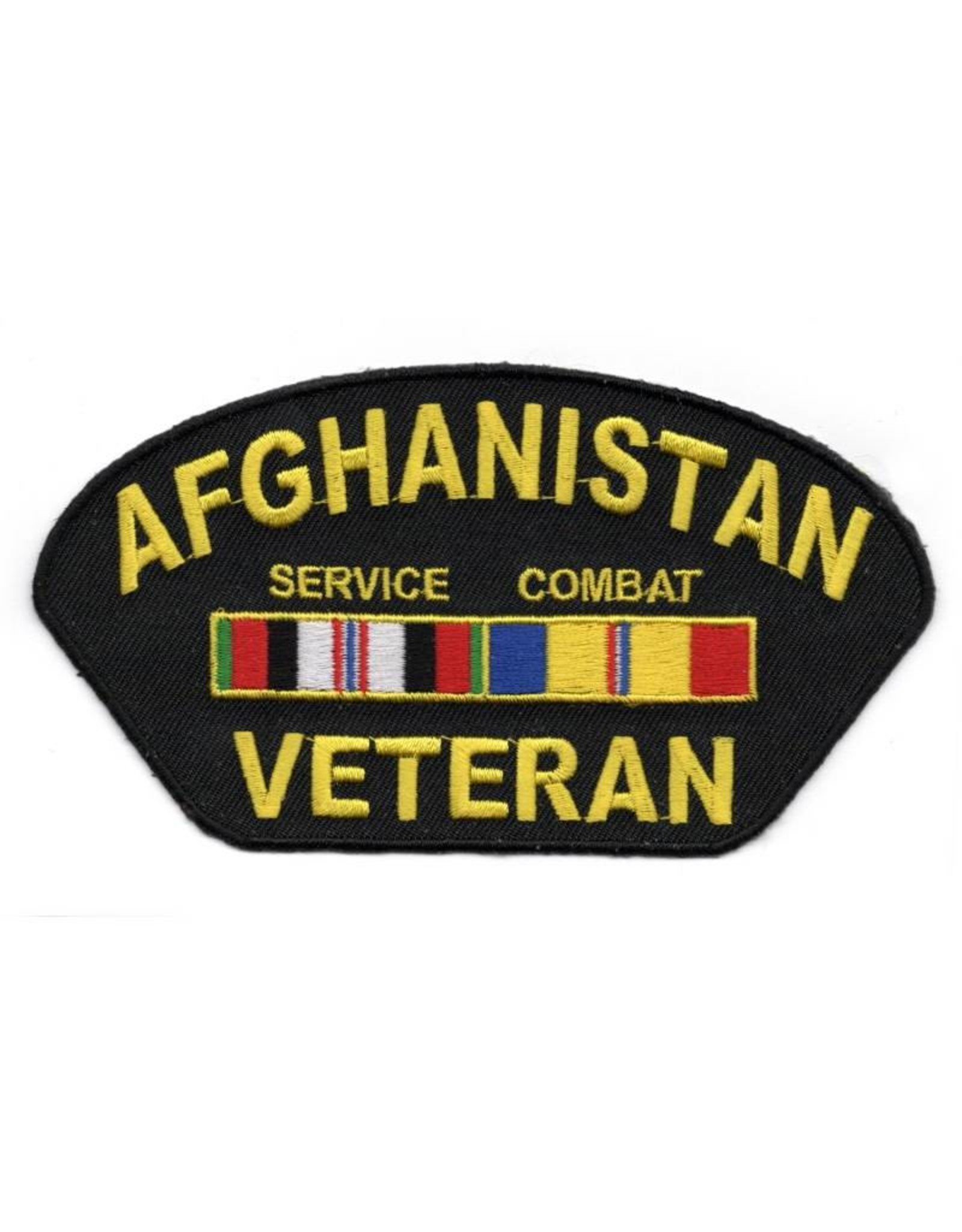 MidMil Embroidered Afghanistan Veteran Patch with Service and Combat Ribbons