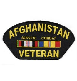 Embroidered Afghanistan Veteran Patch with Service and Combat Ribbons