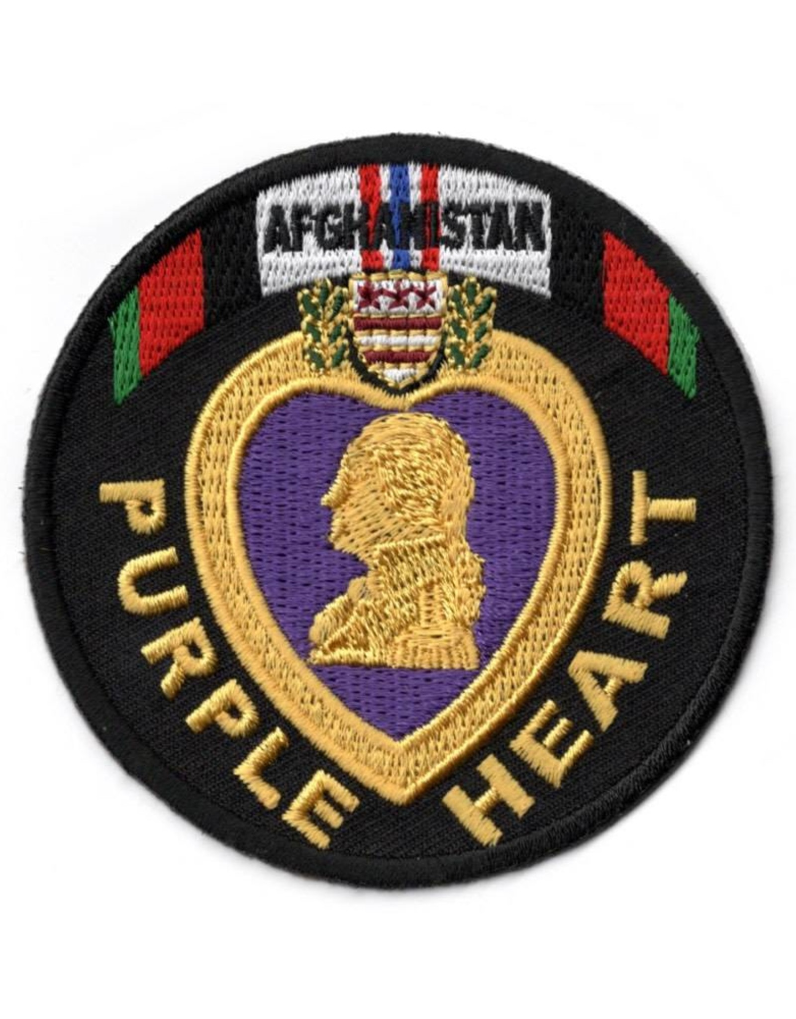 MidMil Embroidered Afghanistan Purple Heart Patch