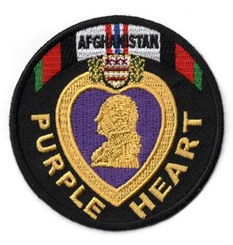 Embroidered Afghanistan Purple Heart Patch