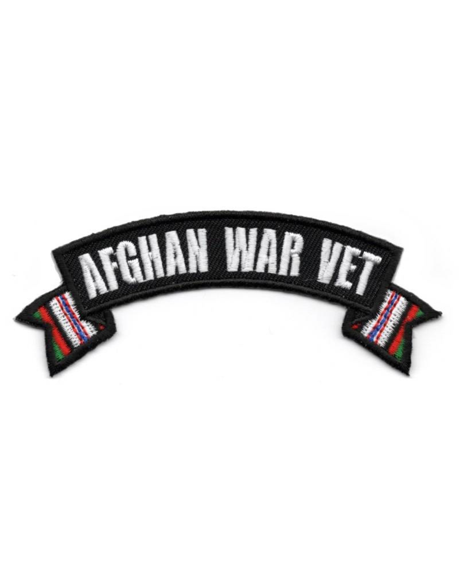 MidMil Embroidered Afghanistan War Vet Rocker Patch with Ribbon Tails