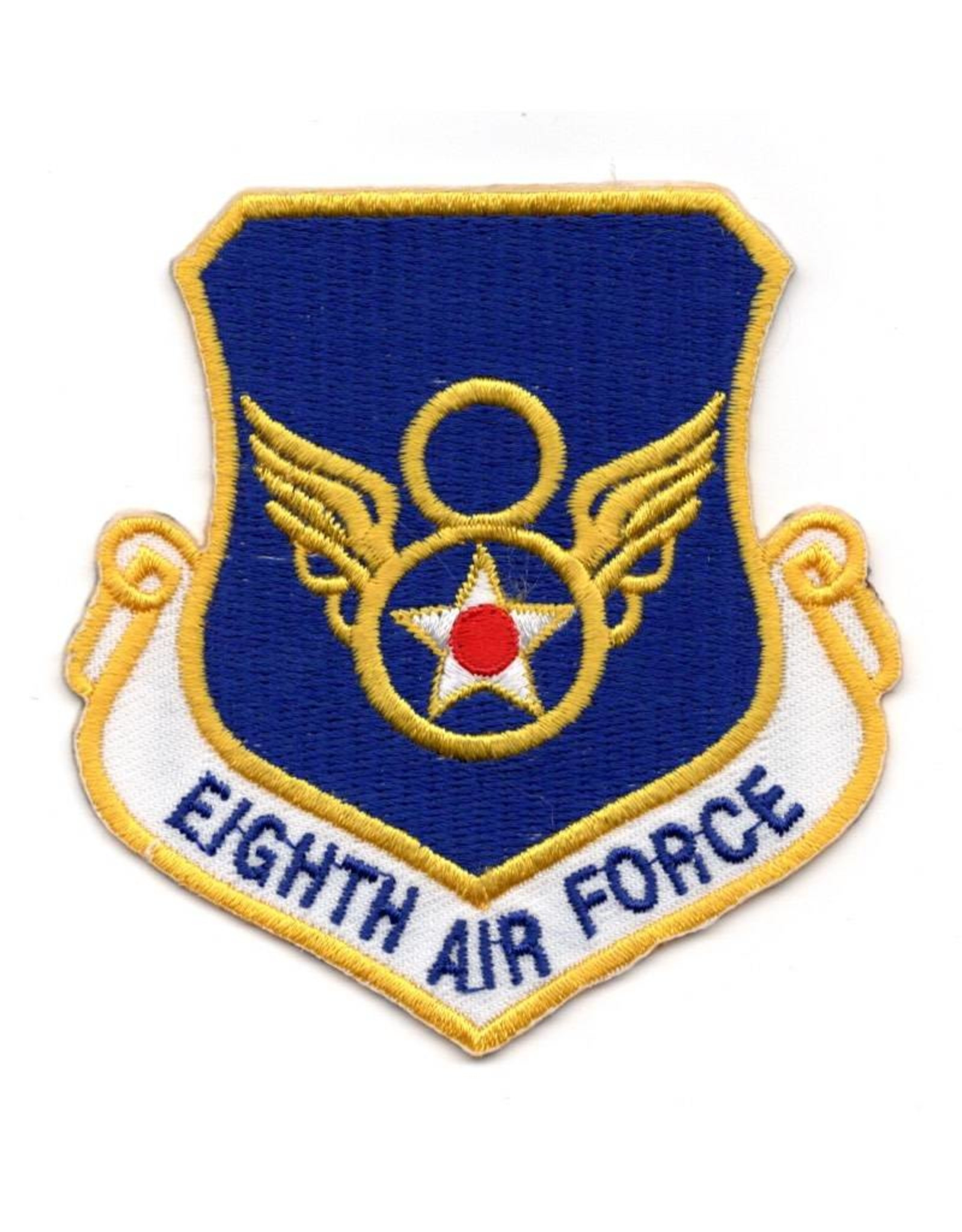"""MidMil Embroidered 8th Air Force Emblem Patch  3.25"""" high x 3"""" wide."""