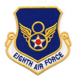 "MidMil Embroidered 8th Air Force Emblem Patch  3.25"" high x 3"" wide."