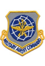 MidMil Embroidered Air Force Military Airlift Command Patch Blue Lettering