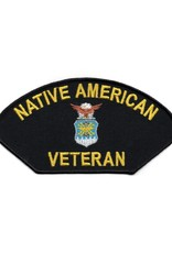 MidMil Embroidered Air Force Native American Veteran Patch with Air Force Emblem