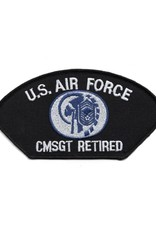 MidMil Embroidered Air Force CMSgt Retired Patch