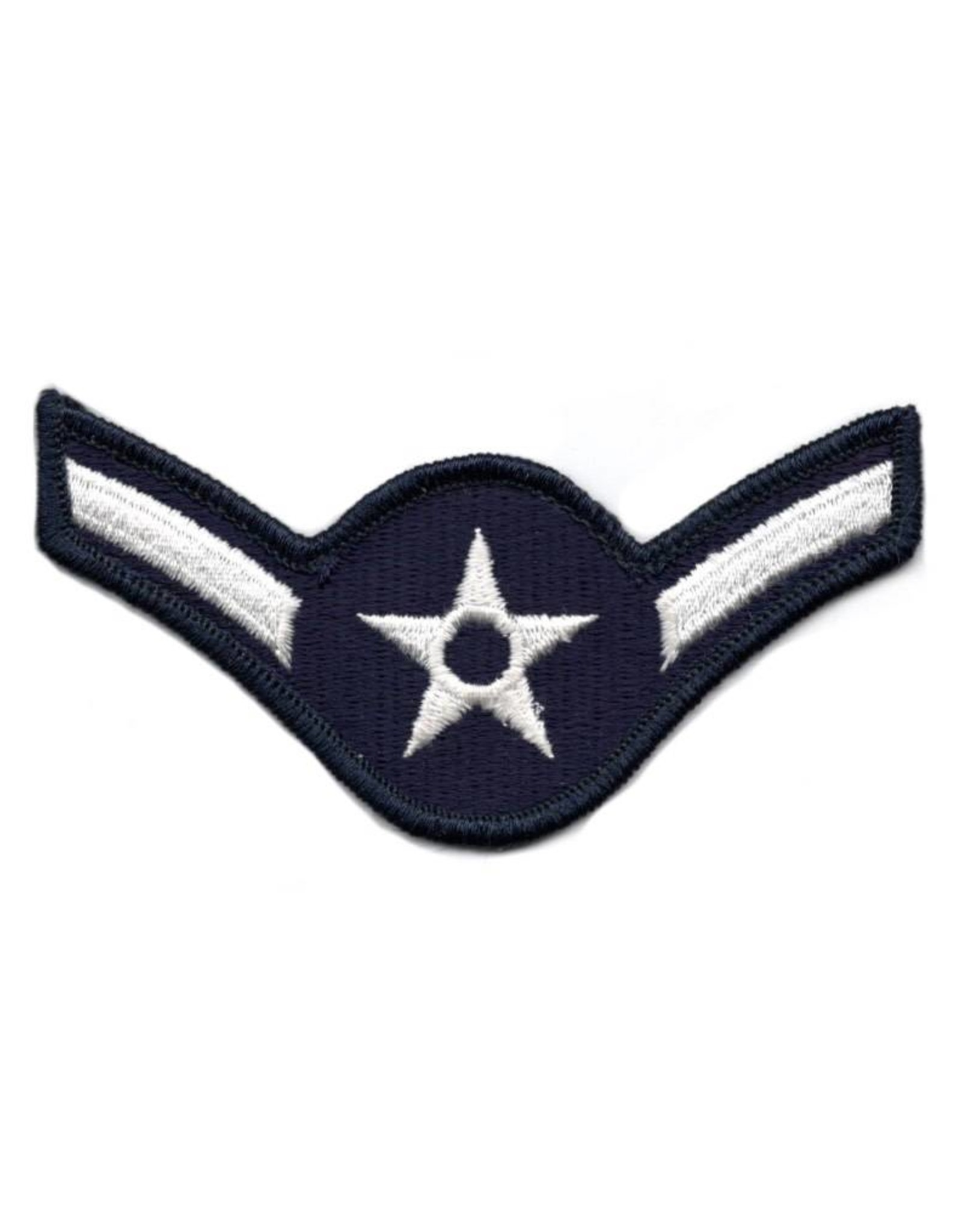 """MidMil Embroidered Air Force Airman (E-2) Rank Patch 4"""" wide x 2.2"""" high"""
