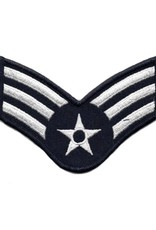 """MidMil Embroidered Air Force Senior Airman (E-4) Rank Patch 4"""" wide x 3.1"""" high"""