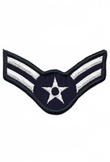 """MidMil Embroidered Air Force Airman 1st Class ( E-3) Rank Patch 4"""" wide x 2.7"""" high"""