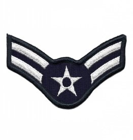 MidMil Embroidered Air Force Airman 1st Class ( E-3) Rank Patch