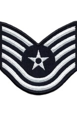 """MidMil Embroidered Air Force Tech Sergeant (E-6) Rank Patch 4"""" wide x 3.9"""" high"""
