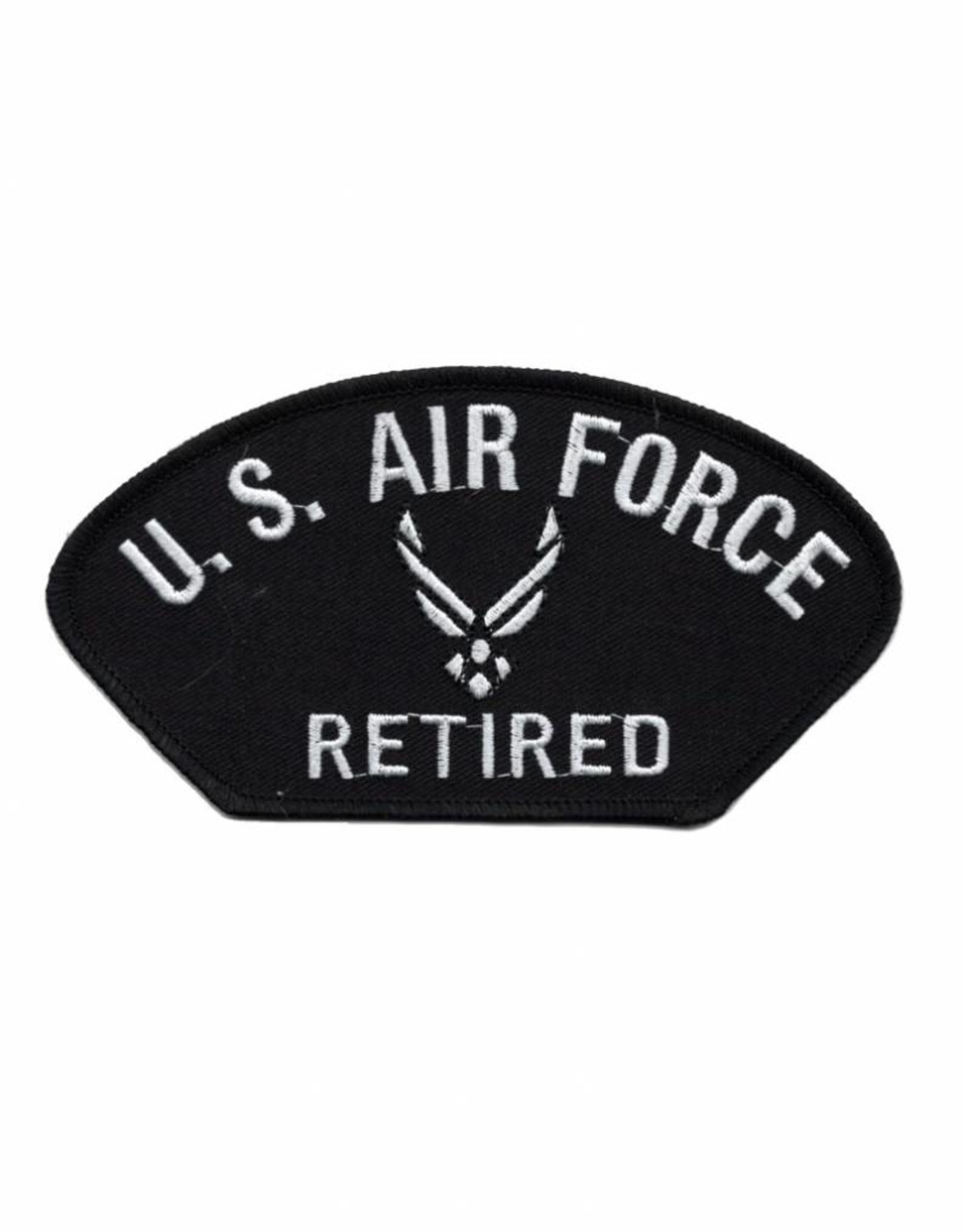 MidMil Embroidered Air Force Retired Patch with Wing Emblem