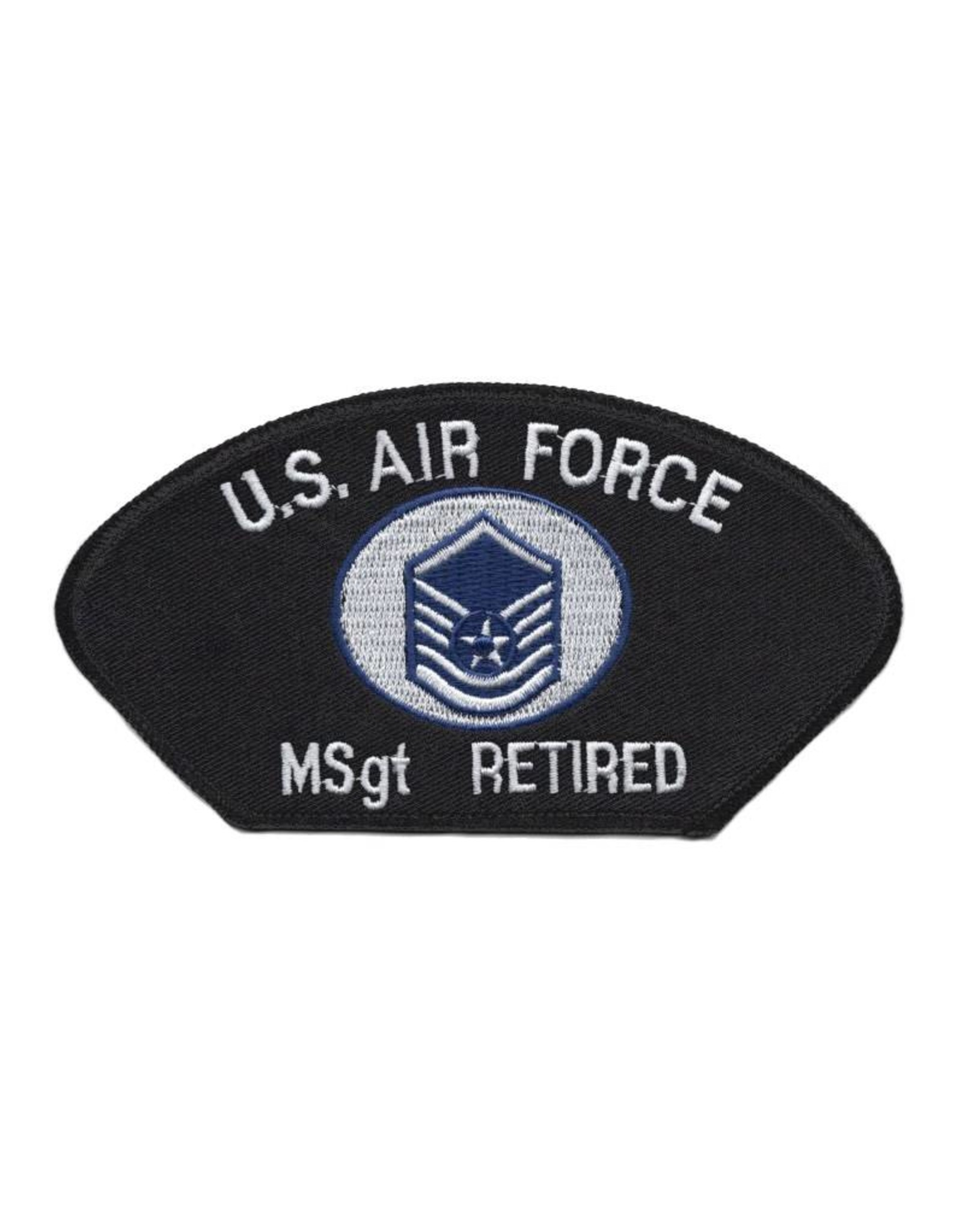 MidMil Embroidered Air Force MSgt (E-7) Retired Patch