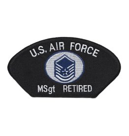 MidMil Embroiderd Air Force MSgt (E-7) Retired Patch