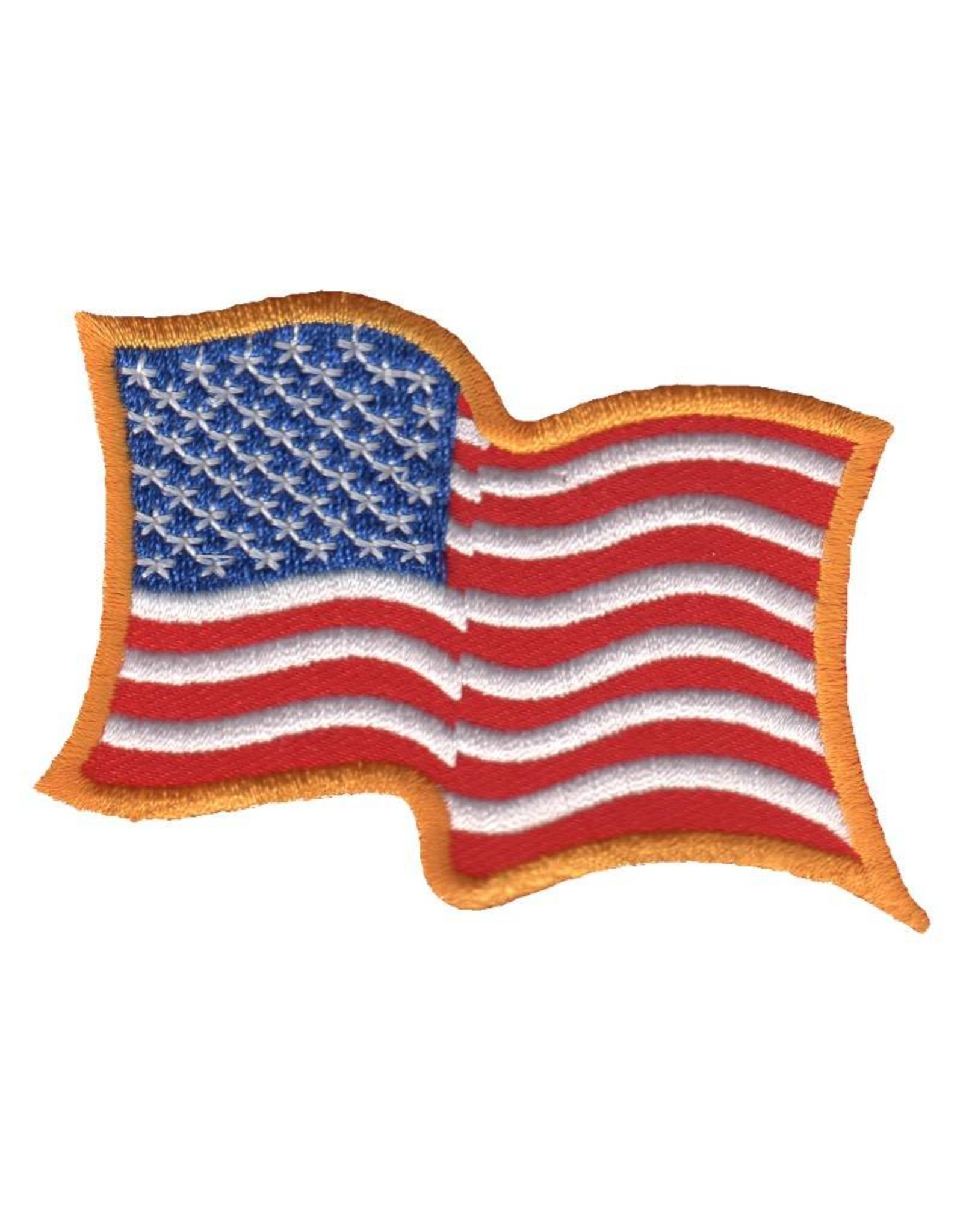 MidMil Embroidered Wavy American Flag Patch