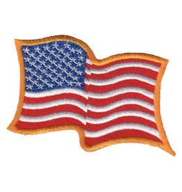 Embroidered Wavy American Flag Patch