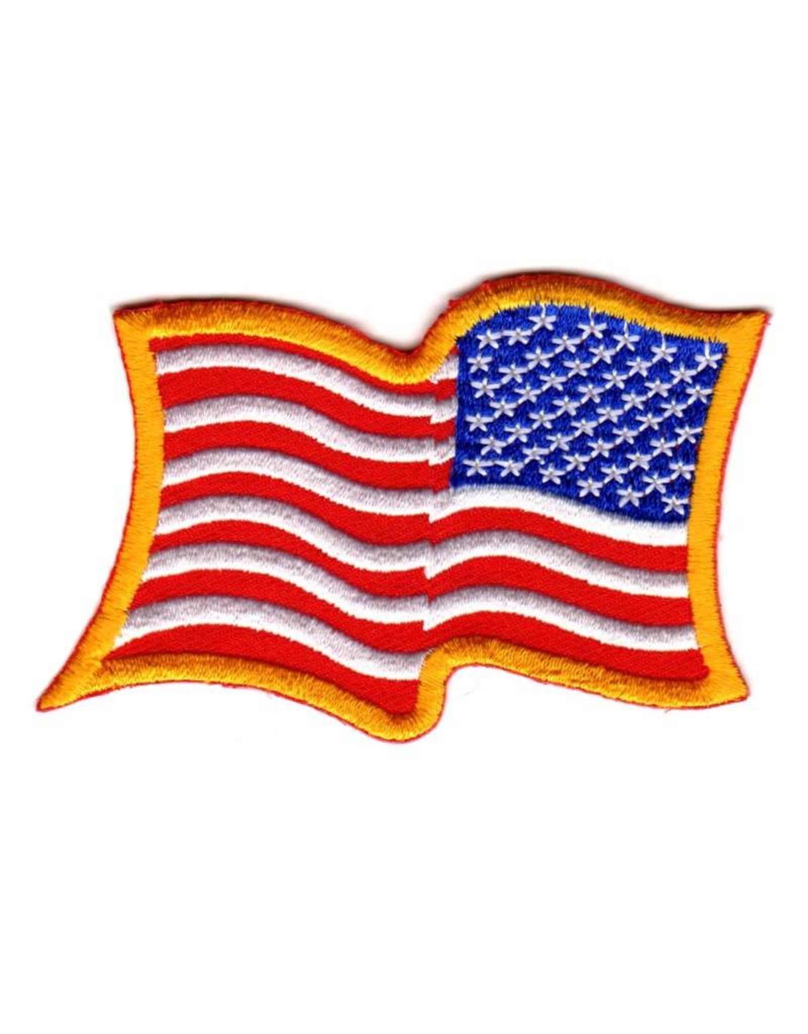 MidMil Embroidered Wavy Reversed American Flag Patch
