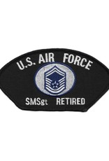 MidMil Embroidered Air Force SMSgt (E-8) Retired Patch