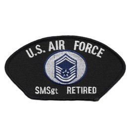 Embroidered Air Force SMSgt (E-8) Retired Patch