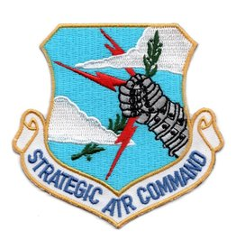 Embroidered Air Force Strategic Air Command Emblem Patch