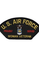 MidMil Embroidered Air Force Woman Veteran Proudly Served Patch with Emblem