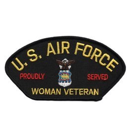 Embroidered Air Force Woman Veteran Proudly Served Patch with Emblem