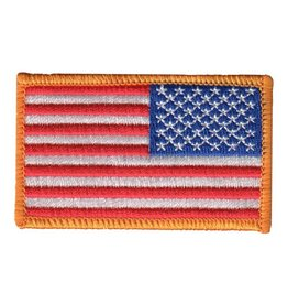 Embroidered Reversed American Flag Patch