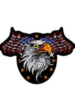MidMil Embroidered Eagle Head with American Flags Patch