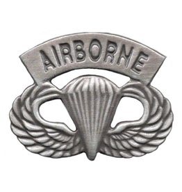 Army Airborne Parachute Wings Pin with Airborne Tab