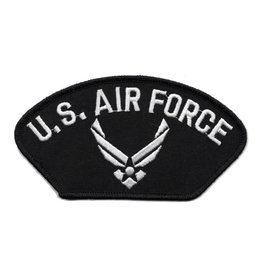 MidMil Embroidered U. S. Air Force Patch with Wing Emblem Black