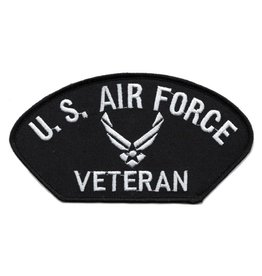 MidMil Embroidered Air Force Veteran with Star Emblem Patch