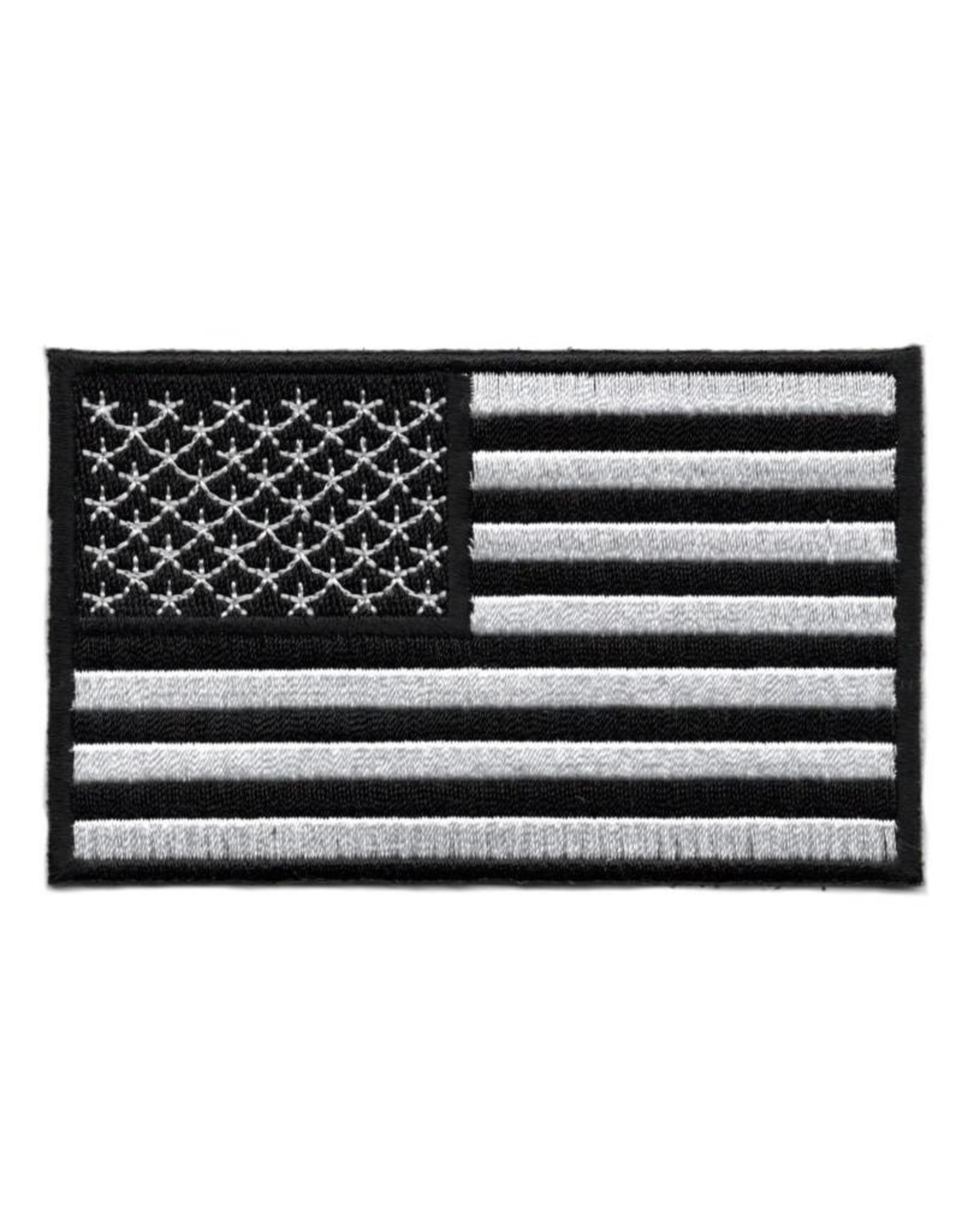 MidMil Embroidered Black & White American Flag Patch